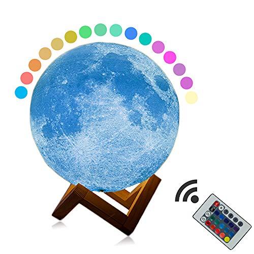 YLSMN 3D-Druck Mondlicht 3D-Mondlicht kreative Tischlampe LED Nachtlicht Geburtstag Smart Home Tischlampe Geschenk wärmelampe