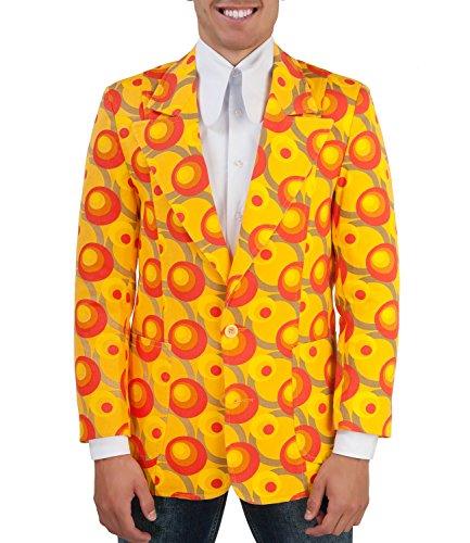 Comycom jaren 70 patroon Sakko Dots oranje