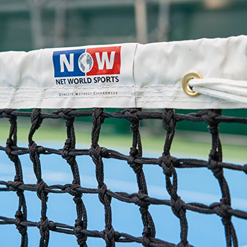 Vermont Red de Tenis de Calidad Profesional – 12,8m para Dobles (Gama de Opciones) (3,5mm Malla Doblada)