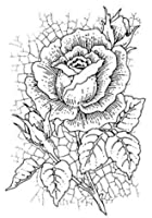 花の背景クリアスタンプ/DIYスクラップブッキング用シール/フォトアルバム装飾用クリアスタンプシートA1905