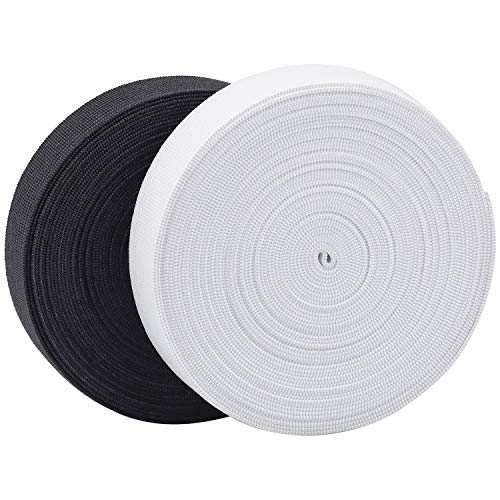 Wandefol 2 Stück Gummiband 5m 20mm Breit Elastisches Band Elastische Gummiband für Nähen und Haushalt DIY Handwerk Kundenspezifische Kleidung