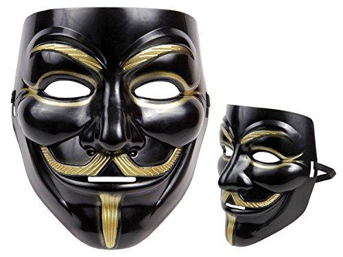 Alsino Totenkopfmaske Vendetta Maske Karneval Saw Fasching Maske Blue Mask Kostüme Geist, wählen:Mas-14 Vendetta schwarz
