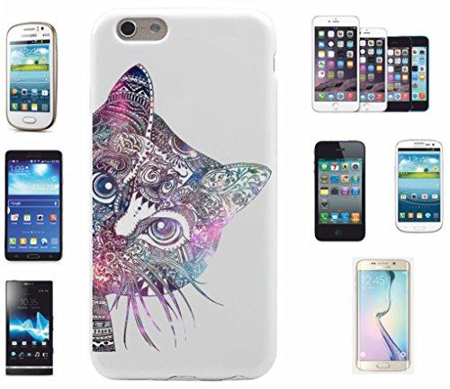 Carcasa para iPhone 7+ 'Mandala Gato Diseño 13' | El Must Have' para primavera. Los motivos alegres y coloridos Mandala de alta calidad cautivan tu smartphone y atraen todas las miradas.
