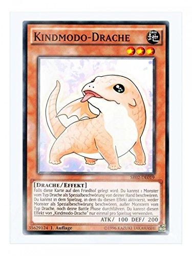 SR02-DE019 Kindmodo-Drache 1. Auflage im Set mit original Gwindi Kartenschutzhülle