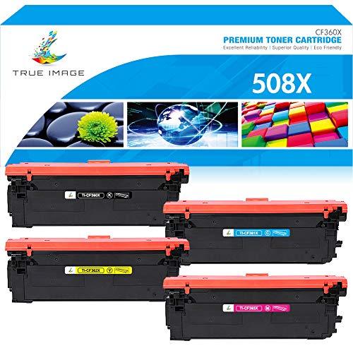 True Image Kompatibel Tonerpatrone Replacement für HP 508X CF360X CF361X CF362X CF363X 508A CF360A CF361A CF362A CF363A Toner für HP Color Laserjet Enterprise M552dn M553dn M553n M553x MFP M577