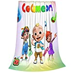 Crib Bedding And Baby Bedding Wild Weird Cocomelon Kids Blanket Soft Warm Plush Flannel Blankets, 3D Printed Jj Luxury Nursery Receiving Blanket For Couch Or Bed -40X50 In