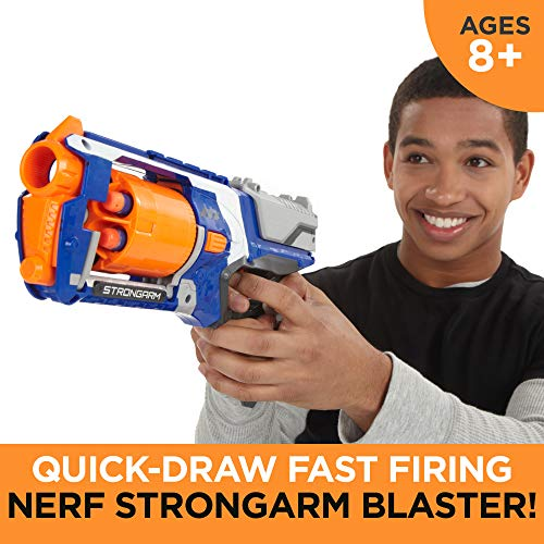 Nerf N Strike Elite Strongarm Toy Blaster with Rotating Barrel, Slam Fire, and 6 Official Nerf Elite Darts for Kids, Teens, & Adults(Amazon Exclusive)