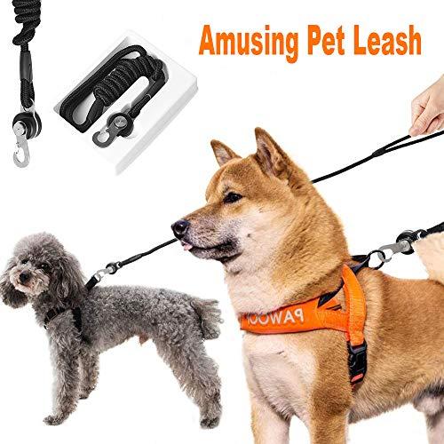 PONGPENG magnetische Hundeleine für Spaziergänge und Training