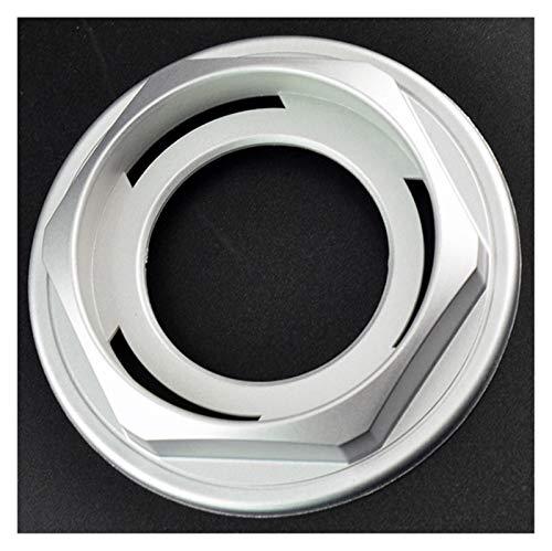 LIZCX YAOQIHAI 4 unids 102 mm Tapas de Ruedas HUX Hex Nuts 09.23.131 Rims Centro DE CUCHO Anillo RZ RG 15'16' E30 E39 (Color : Silver)