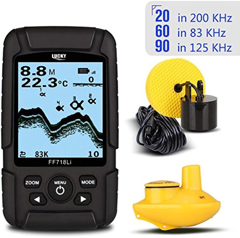 KbjAccessory Fish Finder Dual Sonar RealWaterproof Fishfinder