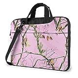 AOOEDM Laptop-Tasche Computertasche Ärmelabdeckung Pink Camo Tree Wasserdichte Schulter Aktentasche 13 14 15,6 Zoll
