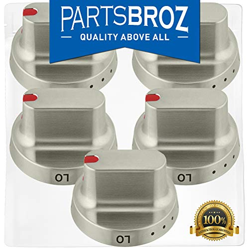 DG64-00347B Range Dial Knob for Samsung Gas Stoves by PartsBroz - Replaces Part Numbers DG64-00472B, AP5949297, PS9865173 (Pack of 5)