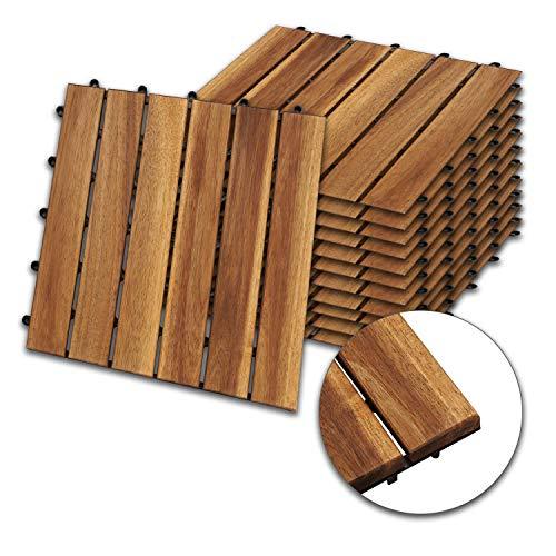wolketon 30 x 30 cm Akazien-Holz...