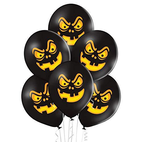 PARTY FACTORY Lot de 25 ballons en latex à motif - Diamètre : 27 cm - Couleurs vives - Pour anniversaire, mariage, Halloween, Nouvel An, football - Différents motifs (Halloween)