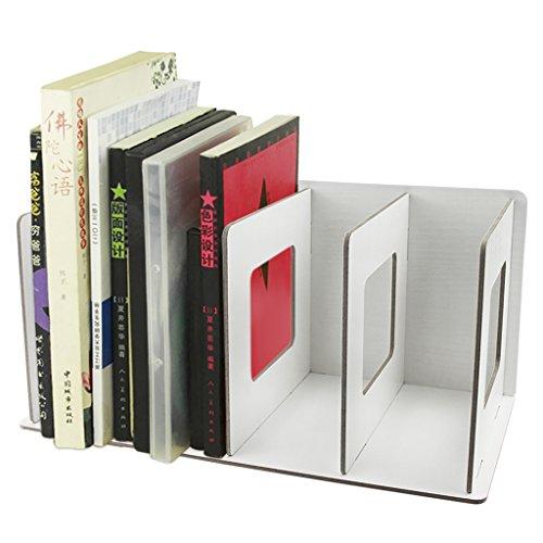 Abnehmbar Holz Schreibtisch Organizer Stehsammler Archivsammle DIY Buchablagen mit 4 Fächer Katalogsammler für Bücher Ordner Zeitschriften Notizbücher CD Halter