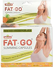 Jolly Fat-Go Slimming Capsules With Pineapple, Vilayti Imli And Green Tea Extracts (Yellow)- 60 Capsules