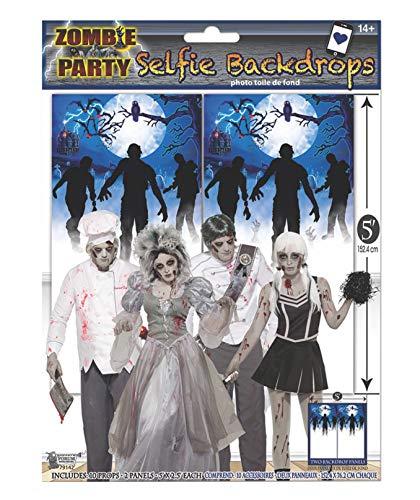 Forum Novelties – Kostümzubehör – Party Photo Booth Zubehör-Pack, Zombie Hintergrund Unisex Erwachsene Einheitsgröße