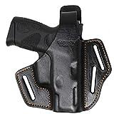 Garrison Grip Premium Full Grain Italian Leather 2 Position Tactical Holster (BLK) Fits Taurus (PT111 Gen2, G2, G2c)