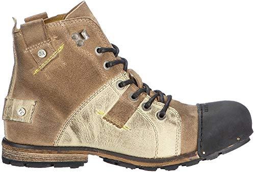 Yellow Cab Herren INDUSTRIAL M Biker Boots, Beige, 42 EU