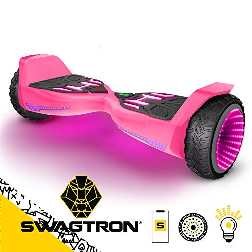 Swagboard T580 Warrior Hoverboard with Speaker Synced Lighting FX Powered by LiFePo Battery Technology