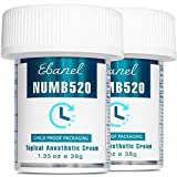 Ebanel 2-Pack 5% Lidocaine Topical Numbing Cream Maximum Strength, 2.7 Oz Pain Relief Crea...