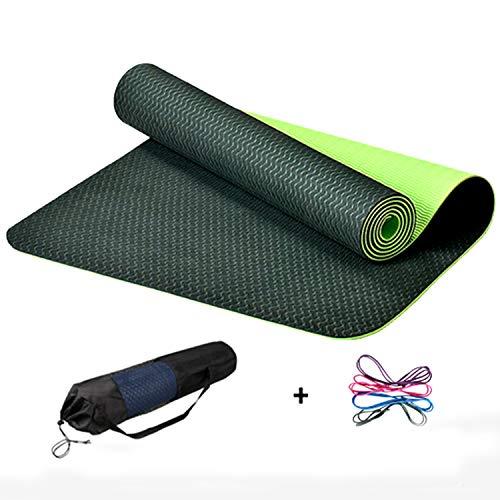 FitTrek Tappetino Fitness Yoga Mat Antiscivolo - Materassino Yoga TPE 183 x 61 x 0,6 cm - Tappeto Fitness Palestra Addominali Ginnastica Elastico Morbido