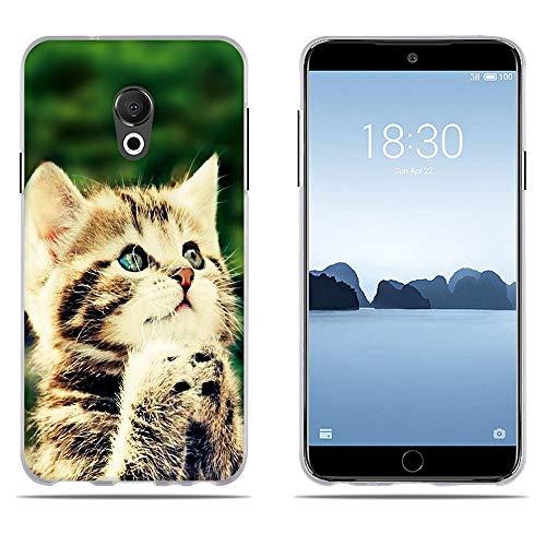 DIKAS für Hülle für Meizu 15 Lite/ M15, Qualität Muster Transparentes Silikon TPU Art- & Weisekreatives 3D zeitgenössisches Abdeckungs-Telefon-Kasten für Meizu 15 Lite/ M15 (5.46