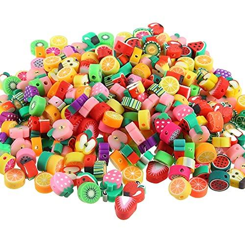 10 mm cuentas de fruta DIY pulsera abalorios redondo suave pote de...