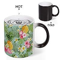 Discoloration Mug ハワイアンパイナップル 変色マグコーヒーマグミルクカップホーム/オフィス/顧客カップルギフト330 ml耐久性のある耐熱水マグ