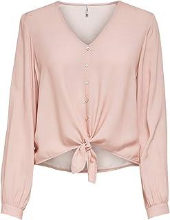 Only Onlnina Life L/S Tie Shirt Noos Wvn Blusas para Mujer