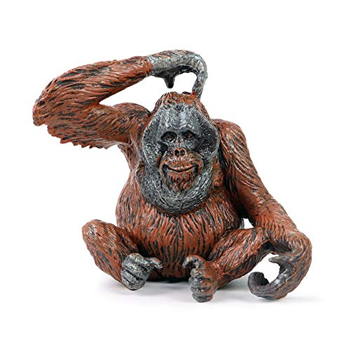 Orangutan Sculpture Wild Animal Figure Statue Garden Home Decoration Sculpture Collection Ornaments Children's Toys