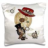 3dRose Gothic Laveau Hot Air Balloon Steampunk Art - Pillow Case, 16