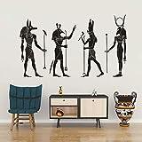 Decoración Cultural Egipcia pegatina de pared de dioses egipcios antiguos de Egipto ornamento egipcio Anubis Ra set Apis calcomanías de arte de pared