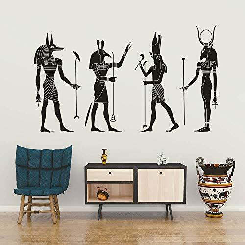 Egipcio Antiguo Egipto Mitología Dioses Horus Bastet Ra Seth Apis Inpu Anpu Animales Etiqueta de la pared Calcomanía de vinilo Dormitorio Sala de estar Oficina Decoración para el hogar Mural