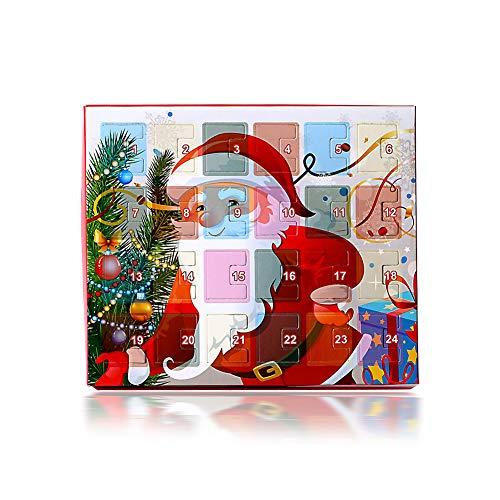 Duless Weihnachts-Adventskalender 2020 Weihnachtskalender Kinderschmuck Armband DIY-Halskette Weihnachtsgeschenke für Jungen Und Mädchen (Einschließlich Armband Und Accessoires)