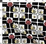Biene, Marienkäfer, Insekt, Schwarz, Weiß, Gelb, Rot