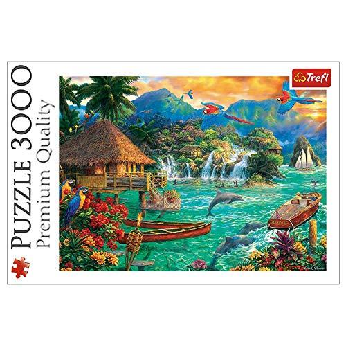Trefl, Puzzle, Leben auf einer Insel, 3000 Teile, ab 14 Jahren