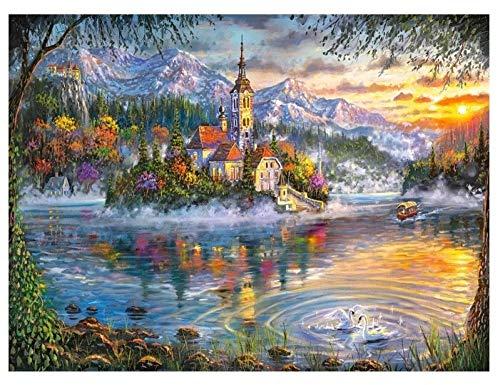 Puzzel 500 Stukjes, Kasteel, Swan Lake, Autumn Splendor, 1500/1000/500/300 Stukjes, Kinderen Speelgoed Geschenken