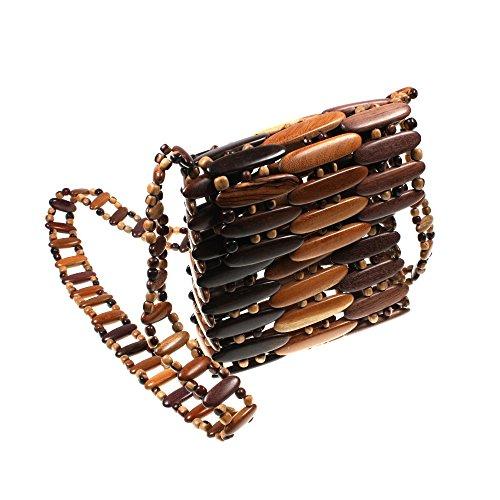 Handtasche Schopper Damenhandtasche Schultertasche Tasche Holz HHT5