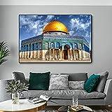 Cúpula Arquitectura islámica Arte de la pared Lienzo Impresión de póster Imagen religiosa Sala de estar Decoración de la pared del hogar 40x60cmx1pcs Sin marco