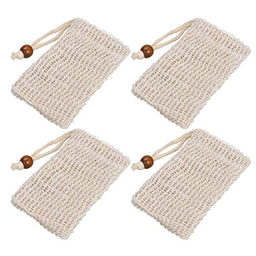Best Quality 1pc Natural Mesh Soap Saver Bag Shower Exfoliator Sponge Pouch Blister, Soap Saver Mesh - Soap Foaming Net, Soap Saver Sack, Soap Bag Mesh, Net Soap Saver, Mesh Sponges
