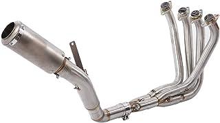 KIMISS Modifica moto Scarico aria anteriore Collegamento tubo Connect per KAWASAKI Z1000 2010-2018