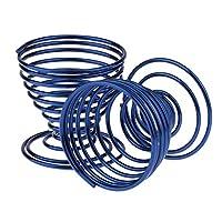 2個入り スポンジスタンド 化粧パフホルダー バネ螺旋型 軽量 乾燥 カビ防止 全4色 - ブルー