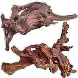 WDEFUN 2 Piece Natural Driftwood for Aquarium,9.5...