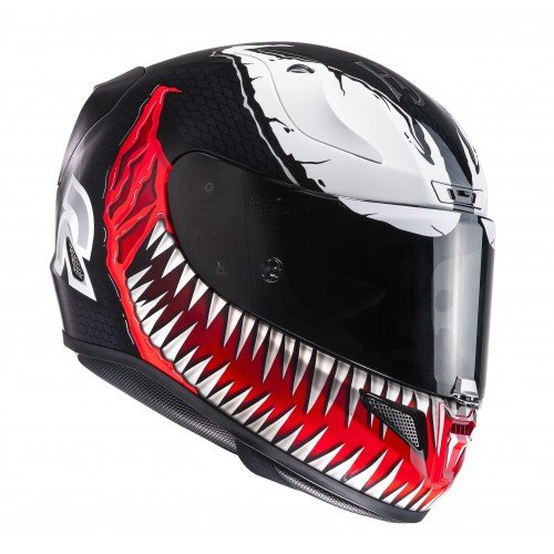 HJC Motorradhelm RPHA 11 Venom MC1, Schwarz/Rot, Größe L