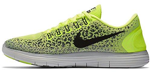 Nike Free RN Distance Laufschuhe Aktuelle Kollektion 2016 Neon/Schwarz/Weiß, Schuhgröße:EUR 47, Farbe:Neon