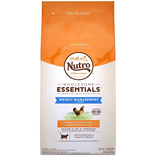NUTRO WHOLESOME ESSENTIALS Adult Weight Management Natural Dry Cat Food for...