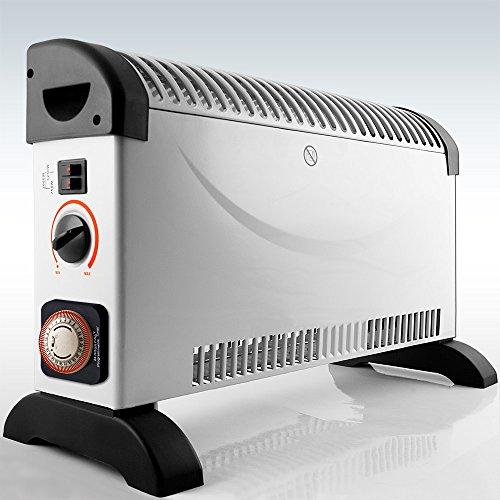 monzana Konvektor Elektroheizer 2000 W inkl. 24 Std. Timer 3 Heizstufen elektrisch Thermostat Heizer Heizung