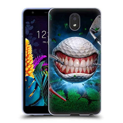Officiële Tom Wood Golfbal Monsters Soft Gel Case Compatibel voor LG K30 (2019)