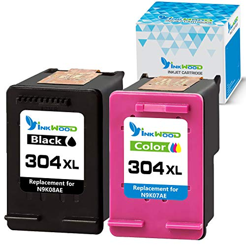 Inkwood - Cartucho de tinta remanufacturado para impresora Envy 5020, 5055, 5030, 5032, DeskJet 2600 2630, 3733 2634 3760, 3762, 2652 3730, 2652 3730, 2622, 2632, 2620.